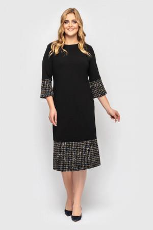 Платье «Тереза-букле» черного цвета