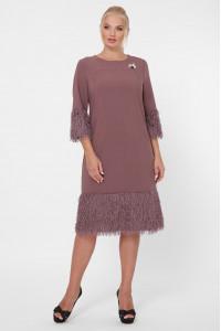 Сукня «Тереза» шоколадного кольору