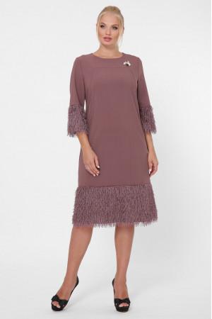 Платье «Тереза» шоколадного цвета