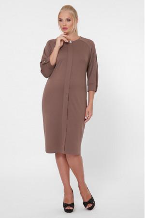 Платье «Элиза» шоколадного цвета