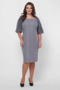 Платье «Джаз» серебристого цвета