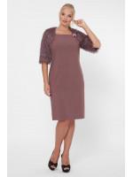 Платье «Джаз» шоколадного цвета