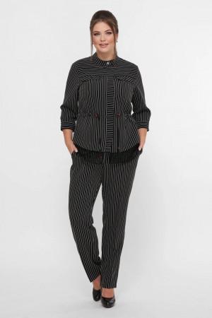 Брючний костюм «Ідеал» чорного кольору в смужку
