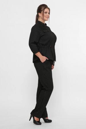Брючний костюм «Ідеал» чорного кольору