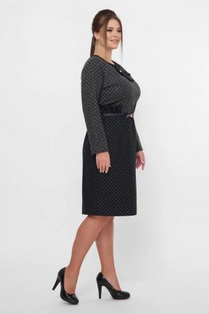 Платье «Жаннэт» серо-черного цвета