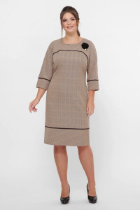 Платье «Кантата» карамельного цвета