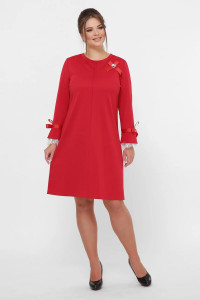 Платье «Майя» красного цвета