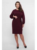 Платье «Эмили» цвета марсала