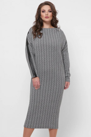 Платье «Кристи» с узором-косами
