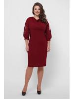 Сукня «Сандра» кольору бордо
