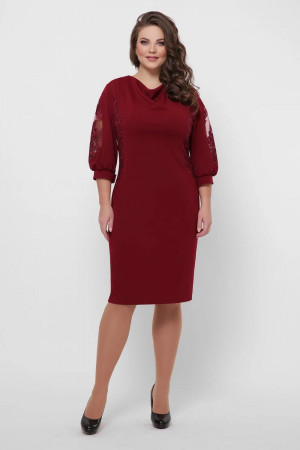 Платье «Сандра» цвета бордо