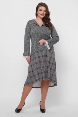 Платье «Медея-ангора» серого цвета
