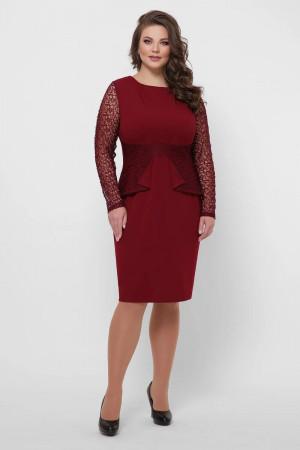 Платье «Дженифер» цвета бордо