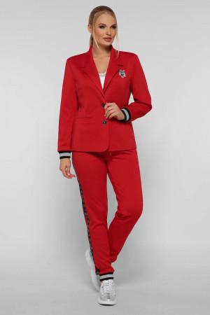 Брючный костюм «Сова» красного цвета
