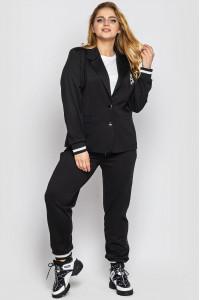 Брючний костюм «Сова» чорного кольору
