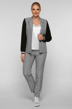 Брючний костюм «Фешн» сірого кольору