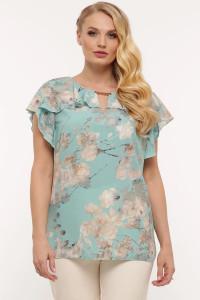 Блуза «Альбіна» кольору м'яти