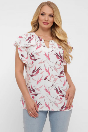 Блуза «Альбина» белого цвета