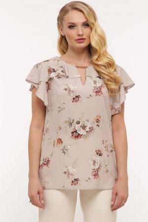 Блуза «Альбина» бежевого цвета