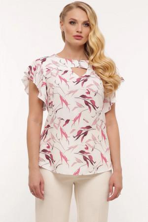 Блуза «Алина» белого цвета