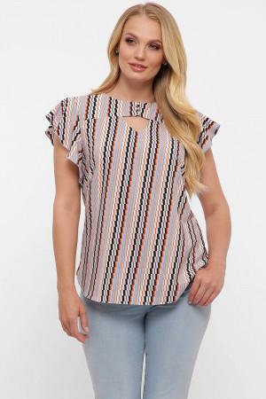 Блуза «Аліна» з принтом-діагональ