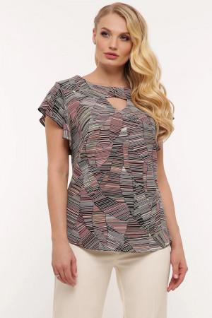 Блуза «Алина» с абстрактным принтом