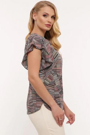 Блуза «Аліна» з абстрактним принтом
