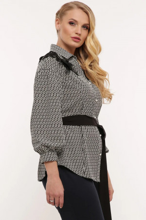Блуза «Франческа» чорно-білого кольору