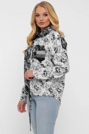 Сорочка «Тропіки» чорно-білого кольору