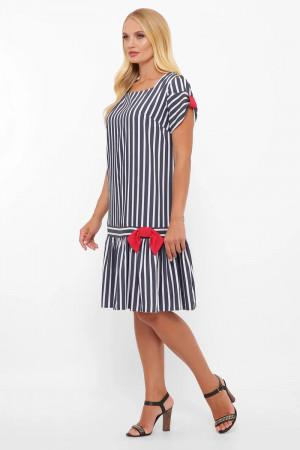 Сукня «Аркадія» кольору джинс в широку смужку