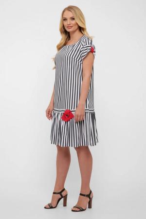 Сукня «Аркадія» в сіро-білу смужку