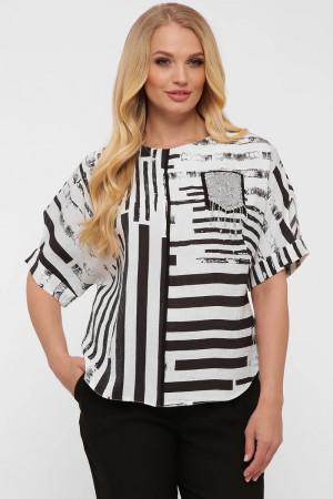 Блуза «Гавана» принт-полоска