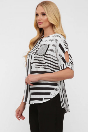 Блуза «Гавана» принт-смужка