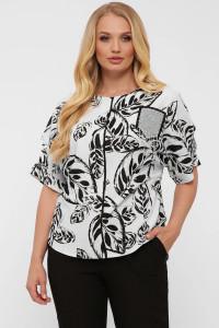 Блуза «Гавана» принт-листья