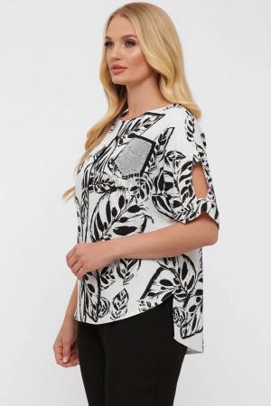 Блуза «Гавана» принт-листочки