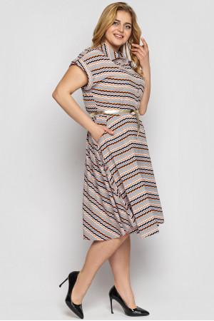 Сукня «Альміра» з принтом-діагональ