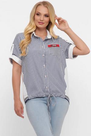 Рубашка «Белинда» белого цвета в полоску
