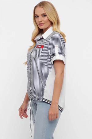 Сорочка «Белінда» білого кольору в смужку