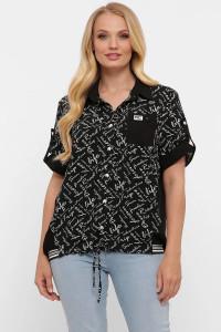 Сорочка «Белінда» чорного кольору