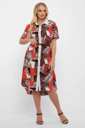 Сукня-сорочка «Саманта» з багатоколірним принтом