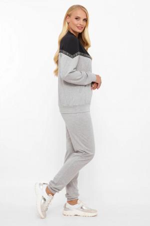 Спортивный костюм «Глория» серого цвета