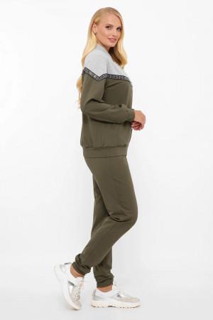 Спортивный костюм «Глория» оливкового цвета