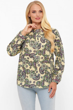 Блуза «Бэтти» цвета лайм