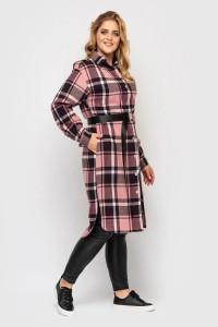 Сорочка-сукня «Карла» рожевого кольору