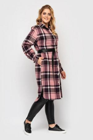 Рубашка-платье «Карла» розового цвета