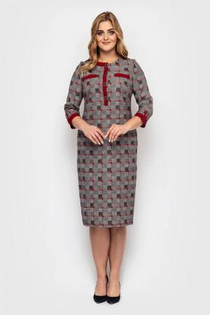Сукня «Мірра» кольору бордо в клітинку
