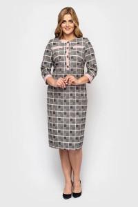 Сукня «Мірра» кольору пудри в клітинку