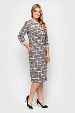 Платье «Мирра» цвета пудры в клетку