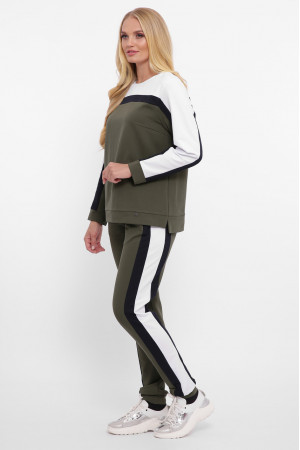 Спортивный костюм «Лина» оливкового цвета