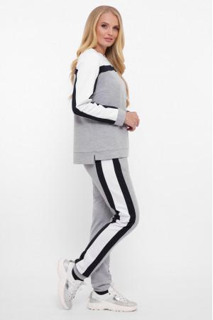 Спортивный костюм «Лина» серого цвета